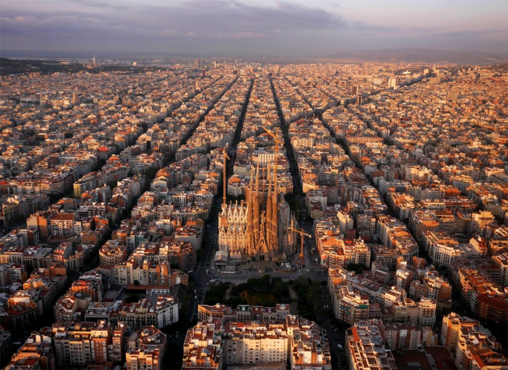 Drone Photo of Barcelona, Spain