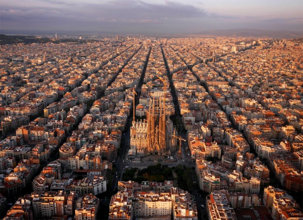 Drone Photo of Barcelona, Spain