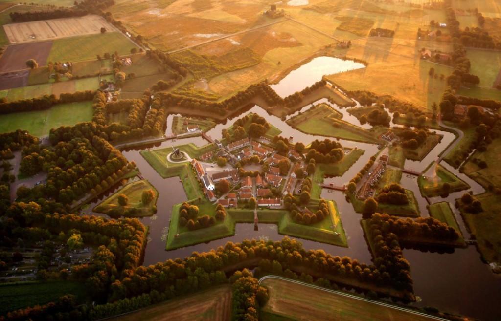 Drone Image of Bourtange, Netherlands