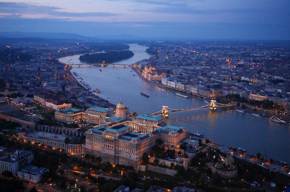 Drone Image of Budapest, Hungary