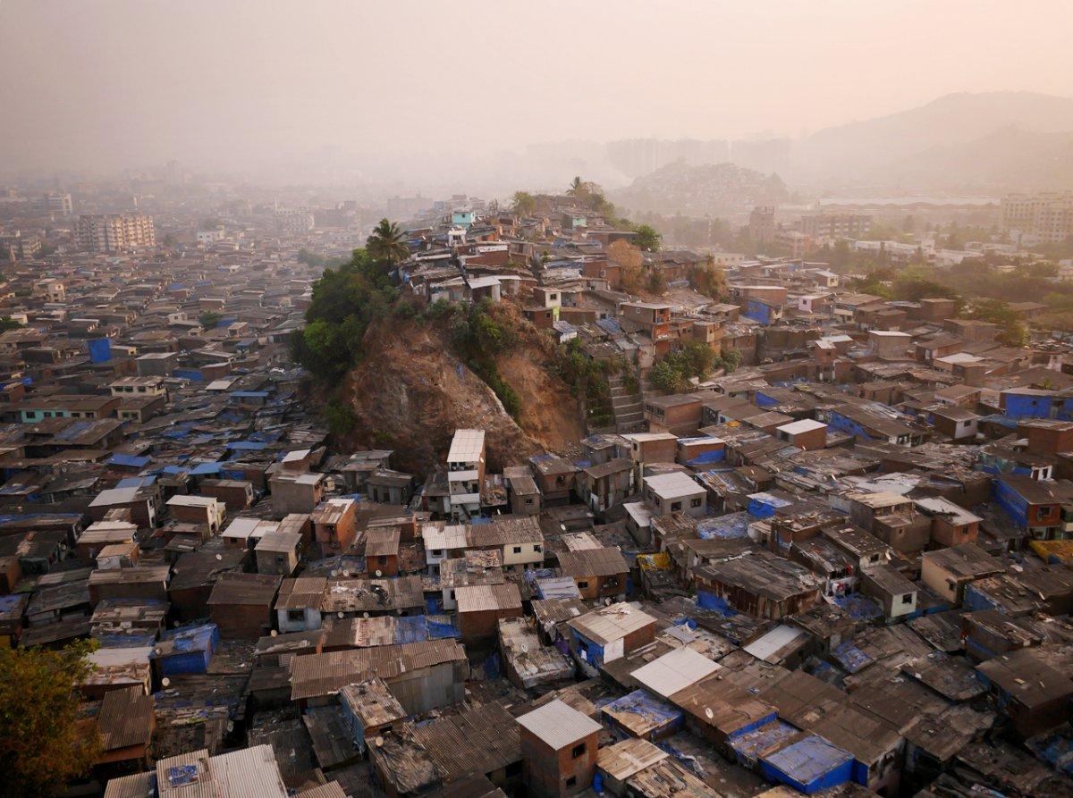 Drone Photo of Mumbai, India