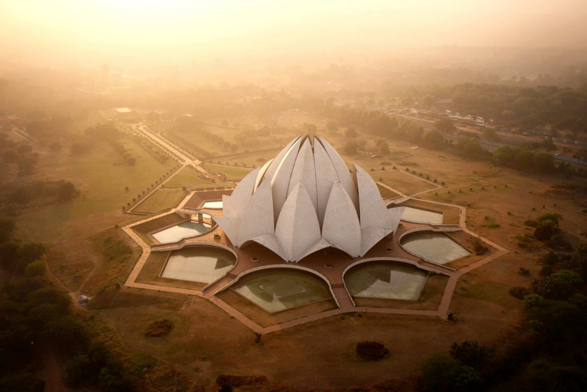 Drone Image of New Delhi, India