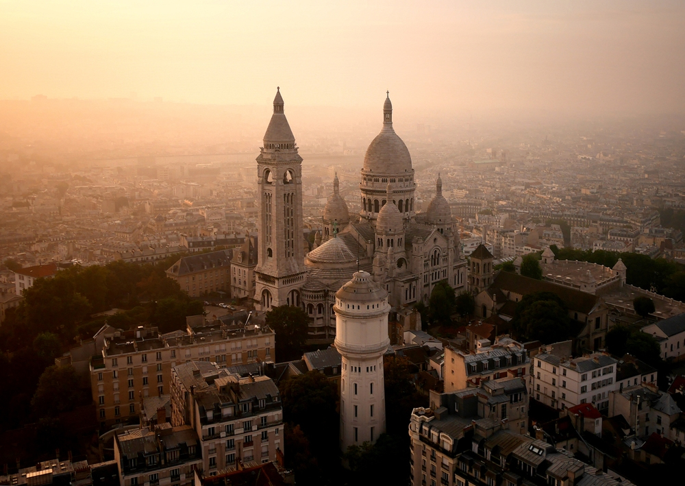 Drone Image of Sacré-Cœur, Paris, France
