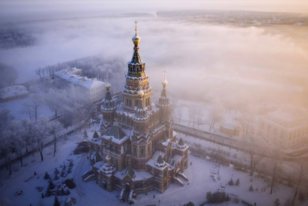 Drone Photo of Saint Petersburg, Russia