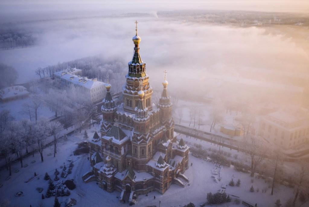 Drone Photo of Saint Petersburg, Russia