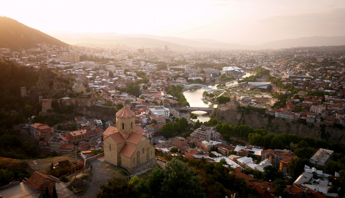 Drone Image of Tbilisi, Georgia