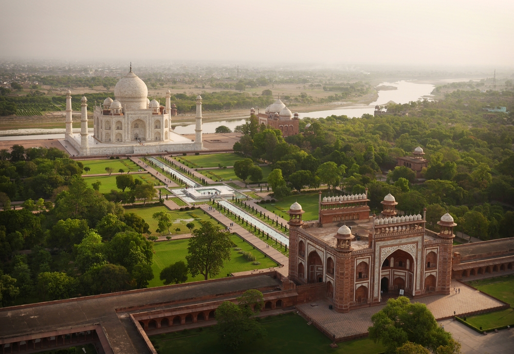 Drone Photo of Taj Mahal, Agra, India