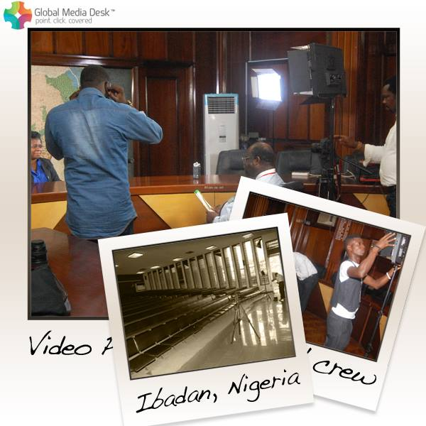 Our local video production crew in action at a conference interveiw & shoot in Ibadan, Nigeria